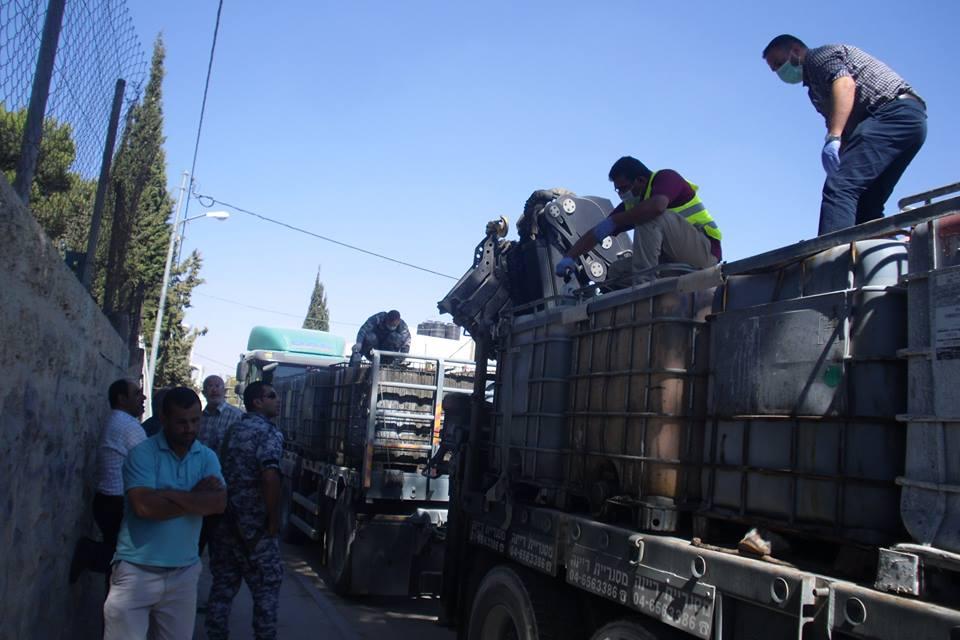 نفايات إسرائيلية تم ضبطها في الضفة الغربية