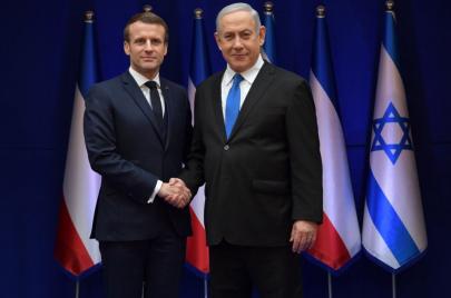 نتنياهو: ماكرون وعدني بالعمل لاعتقال فلسطيني يسكن في رام الله