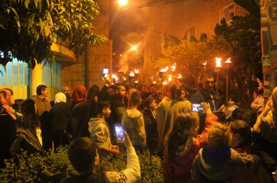 فيديو وصور | إحياء ليلة الشعلة بنابلس